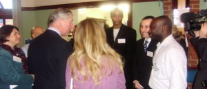 Joseph Djokey with HRH Prince Charles